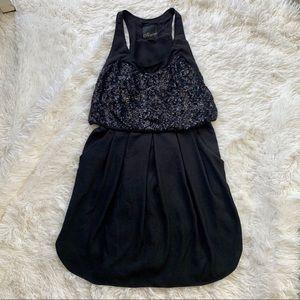 MCGINN sleeveless sequin top dress w/ pockets